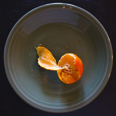 dried tangerine-001 (swardraws) Tags: tangerine fiestaware plate orange