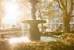 Stadelhoferplatz - Zurich - Switzerland (Nonac_eos) Tags: autumn zurich ef1635f28lii backlight switzerland stadsholmen canon6d foutain nonaceos