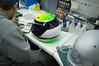 Handpainting a helmade helmet design (helmade) Tags: helmet helmdesign helmetdesign handmade helmade handcrafted lining airbrush motorsport karting