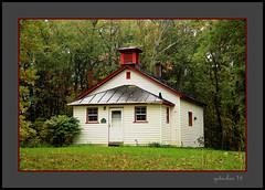 Three Mile Rd School  Alton Pioneer Village (the Gallopping Geezer 3.8 million + views....) Tags: history closed vacant alton district mi michigan vergennes canon 5d3 sigma24105 geezer 2016 abandoned decay decayed weathered worn faded 3milerdschool 3mileroad oneroom 1room school
