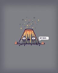 My bad (randyotter) Tags: art design illustration cool fun drawing digital randyotter clever puns cute colour
