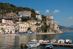 Cetara - Amalfi Coast (Jenny Pics) Tags: view architecture buildings boats ocean beach sky water blue scenery cetara amalficoast italy