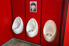 RedBog (Dom Walton) Tags: red bog urinals toilets nowwashyourhandsplease excel domwalton