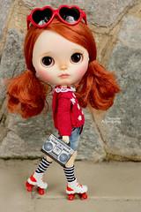 Polka (Passion for Blythe) Tags: polka takara zinochika skate patins redhead blythe