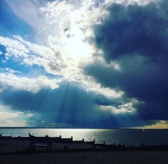 Catching those rays (lucycooper4) Tags: uk whitstable sunset beach nature seaside