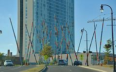 Stix (BKHagar *Kim*) Tags: bkhagar nashville tn tennessee stix sculpture pickupsticks poles city street