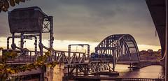 Lidingbron (SaltySerb) Tags: bridge water marina steel tram clouds concrete urban architecture outdoor