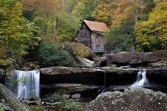 Gristmill at Babcock  state park (zoomclic) Tags: canon colorful babcockstatepark gristmill wv water trees rocks oldbuilding waterfalls leaves bushes fall nature recreation peaceful cloudy 5dmarkii zoomclicphotography ef24105mmf4l wonderfulworld