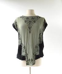 1920s Minuit  Paris embroidered silk blouse (Small Earth Vintage) Tags: smallearthvintage vintagefashion vintageclothing blouse top 1920s 20s silk embroidered satin