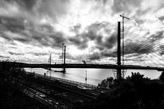Forth Road Bridges #1 (Claire Stones) Tags: forthroadbridge october nikon newforthroadbridge cloud northqueensferry firthofforth clouds scotland forth
