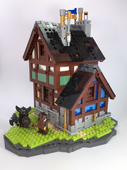 Crystal village house (sjcrocker1) Tags: lego medieval dwarves castle
