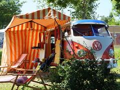 Against the winter blues - summer 2013 in bavaria (52er Bild) Tags: vw bulli vwbus campingbus oldtimer riegsee udosteinkamp camping fuji fujifilm summer sommer bavaria bayern volkswagen t1 vwt1 wiese