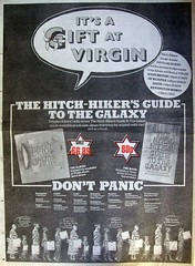Newspaper add for the record album and paperback (John Chanaud) Tags: thehitchhikersguidetothegalaxy