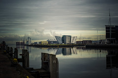 East Bank (ColinParte) Tags: belfast industry river lagan titanic oilrig oil crane shipping harbour port business