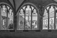 Kreuzgang III (vb-bildermacher) Tags: bw xanten dom niederrhein nrw kirche victordom kreuzgang entspannung ruhe innenhof schwarz weiss gedenksttte gotisch hochkreuz