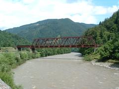 Vasúti híd a Tiszán (ossian71) Tags: ukrajna ukraine kárpátalja kárpátok carpathians vízpart water híd bridge tájkép landscape természet nature folyó river