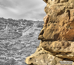 Oct 25 2016 - Indian chief face in the badland rocks (lazy_photog) Tags: lazy photog elliott photography worland wyoming selective color silhouette indian chief rock formation badlands 102516fifteenmilewithtitus