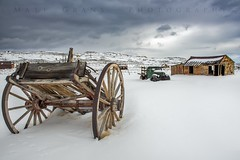 Snow at Bodie (Matt Grans Photography) Tags: bodie snow mountains oldcar antique clouds
