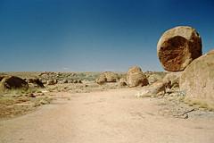 Tourist spot? (Stefan Fisher) Tags: 35mm australia scanned oz minoltaxd7 kodakektachrome outdoor outback abandoned desert downunder landscape m