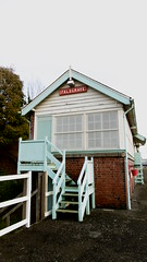 Falsgrave signal box   Scarborough station.  (Scarborough - Whitby  old railway) (dave_attrill) Tags: scarborough whitby disused line trackbed route cinder path dr beeching report 1965 ner north eastern railway october 2016 falsgrave signal box