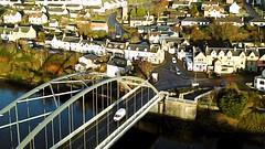 Bonar Bridge (MigKenzie Photos) Tags: road bridge bonar sutherland uk drone village spar kyle bakery hotel church aerial water sea highlands