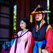 A hanbok lady and her bodyguard