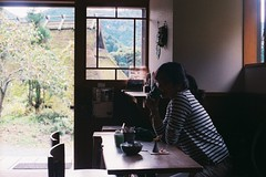 (Chen Yen-Chi) Tags: olympus kyoto film japan 日本 京都 美山 茅草 里 村 建築 民居