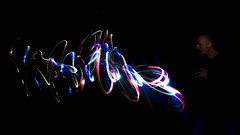 The Wizard | 48/52 | 2016 | Theme: Slow Sync Flash [Explored] (@Dave) Tags: curtain d600 dslr exposure light lightblade lightblades long night nighttime nikkor nikon painting rear slow sync