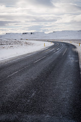 Empty road in Iceland (Istockr) Tags: blizzard cold conditions country driving empty free godafos godafoss green highway hills holiday horizon iceland icelandic landscape lane lifestyle lights looking lost mountain mountains natural nature night nobody northern nowhere path road sky snow snowfall snowing snowstorm space stars storm success tiremarks tiretracks tracks travel vacation weather white winter