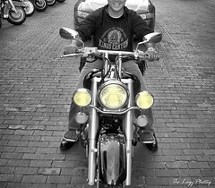 Aug 2005 - Cuca took this photo of our son who was riding behind us in Deadwood SD by holding the camera over her head (lazy_photog) Tags: lazy photog elliott photography sturgis motorcycle rally south dakota black hills classic races deadwood hill city harley davidson yamaha vstar