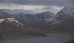 Crummock Water and Buttermere Through Passing Hail Shower (Nick Landells) Tags: buttermere crummckwater crummock lake lakedistrict haystacks rannerdaleknotts greatgable shower snow hail storm autumn