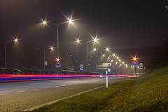 IMG_8071 (Adam Becvar) Tags: cityatnight cityscape nightcityscape night highway highwayatnight lights lighttrails brno czechrepublic nightstreet nightscape city