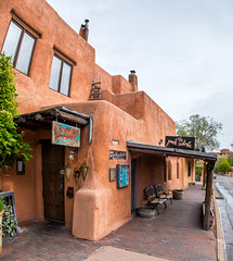 The Pink Adobe (Serendigity) Tags: usa newmexico adobe unitedstates santafe building restaurant