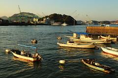 Fishing harbor (Teruhide Tomori) Tags: port harbor onomichi hiroshima japan boat seaside waterfront       ship   landscape   morning sky sunrise