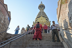 DSC_3403monk (BasiaBM) Tags: swayambhunath monkey temple kathmandu nepal