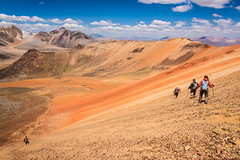 Chile (David Ducoin) Tags: alone america arica atacama chile color desert group hiking landscape latinamerica mountain nature northatacama northchile orange red southamerica stick suriplaza trek treking trekking walking walkingstick aricaparinacota cl