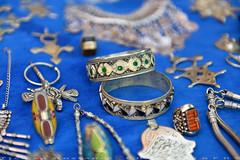 Silver jewelry in Medina (T Ξ Ξ J Ξ) Tags: morocco chefchaouen sefasawan d750 nikkor teeje nikon2470mmf28 blue city square silver jewelry handicraft