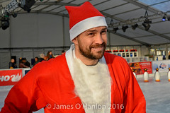 Paul Smith on the ice (James O'Hanlon) Tags: santadash santa dash katumba liam smith paul stephen liamsmith paulsmith stephensmith alankennedy philipolivier tinhead alan kennedy btr juliana ritchie photo shoot press ice rink icerink lfc