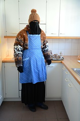 Slave Maid (Buses,Trains and Fetish) Tags: maid slave waitress sweat warm fleece anorak niqab hijab burka chador girl winter torture