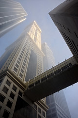 Heights (Kari Siren) Tags: misty morning tower city sky dubai