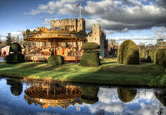 Carousel at Hever Castle, Kent (neilalderney123) Tags: 2016neilhoward hever castle hevercastle carousel merrygoround reflections england water stream