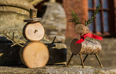 Arts and Crafts (The Crewe Chronicler) Tags: welshpool wales unitedkingdom gb artsandcrafts handmade snowman reindeer canon canon7dmarkii tamron nationaltrust nt powiscastle powis