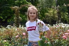 Flower Garden (laura_katharina) Tags: girl garden flowers model levis nature summer england