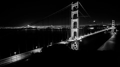Nice to see you again... (KurteeQue) Tags: goldengatebridge sanfrancisco california cityscapes water outdoor monochrome