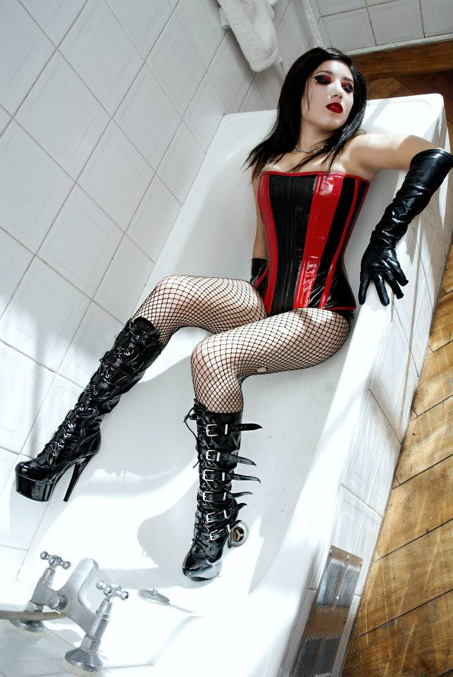 Commit bondage corset glamour
