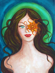 In Her Mind's Eyes (celeste_johnston) Tags: wild art painting acrylic earth feminine goddess fantasy sacred