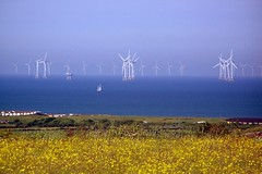 A lovely day to go sailing (billnbenj) Tags: buttercup cumbria turbine barrow windturbine windfarm irishsea