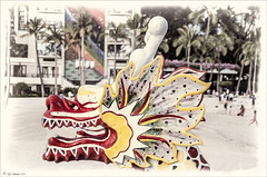 Dragon Boat (Digital Lady Syd) Tags: hawaii oahu waikikibeach hiltonhawaiianvillage rainbowtower