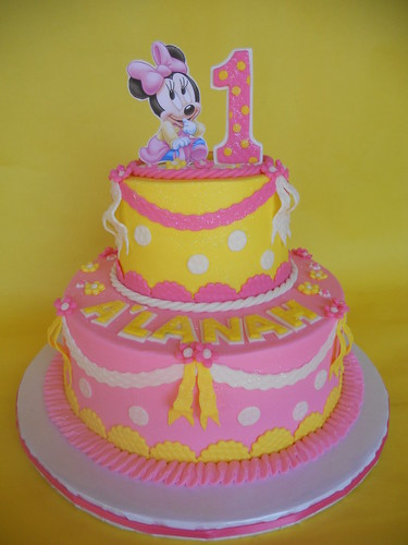 Baby Minnie 1st Birthday Cake a photo on Flickriver