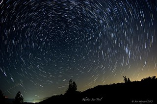 Star Trail Rhodes 18 07 2013